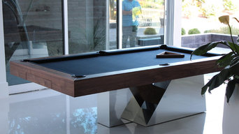 Stilt Pool Table in Walnut and Chrome
