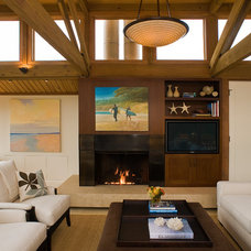 Beach Style Family Room by Kristi Will Home + Design