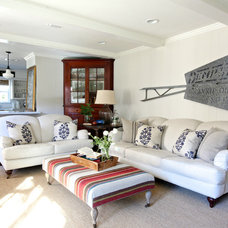 Traditional Family Room by Holly Mathis Interiors