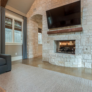 Stone Feature Wall & Fireplace