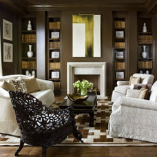 Eclectic Family Room by Francois & Co