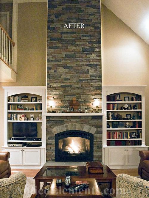 Faux Stone Fireplace | Houzz