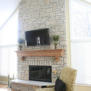 Stone Fireplaces and TVs