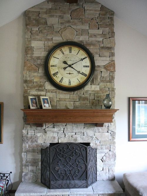 Clock Over Fireplace | Houzz