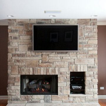 Stone Fireplaces Before & After