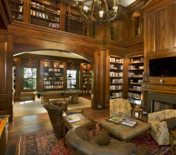 Traditional Family Room by Norris Architecture
