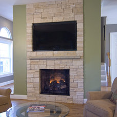 Contemporary Family Room by Summit Design Remodeling, LLC