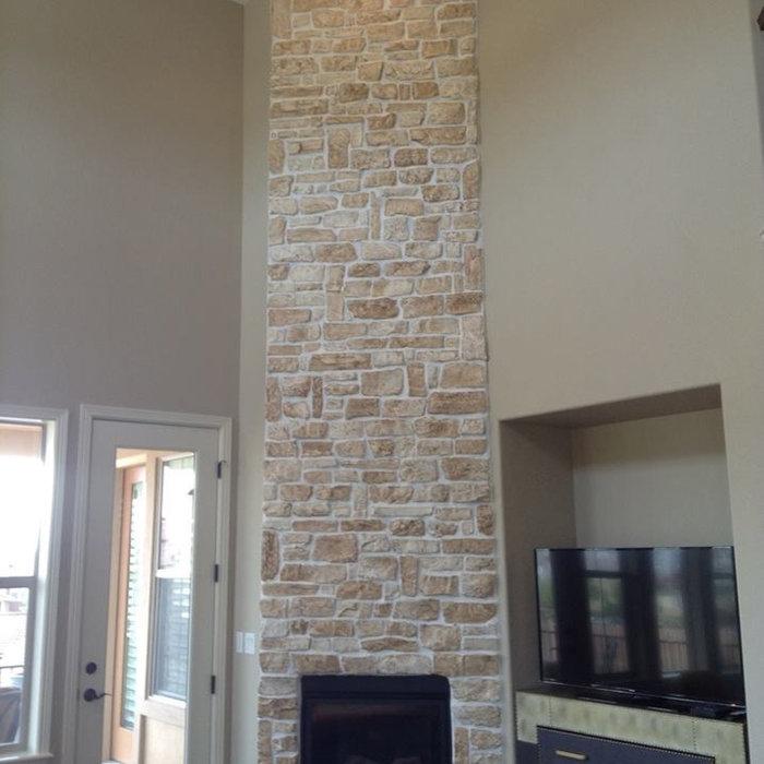 Stone Veneer Fireplace Painting