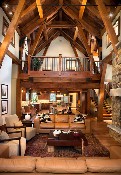Traditional Family Room by Vertical Arts Architecture