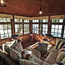 Traditional Family Room by Lake Geneva Architects