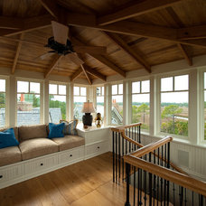 Traditional Family Room by Island Architects