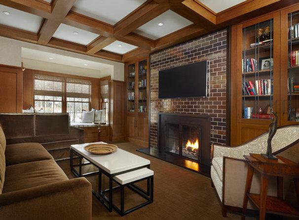 Contemporary Family Room by AMW Design Studio
