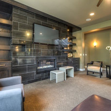 Contemporary Family Room by Core Concepts Cabinets & Design