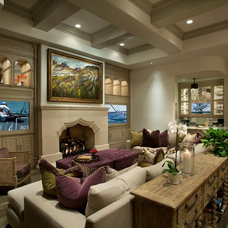 Traditional Family Room by Goodall Custom Cabinetry
