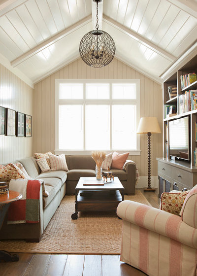 Beach Style Family Room by Tim Barber Ltd Architecture