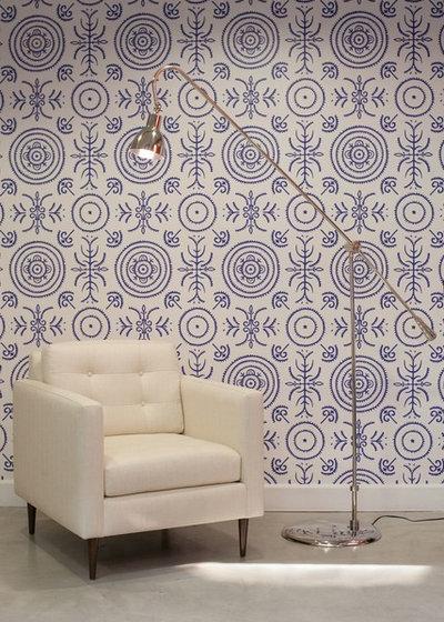 Contemporain Salle de Séjour by Barnato Designs