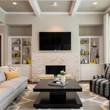 Fireplace units (TV room)