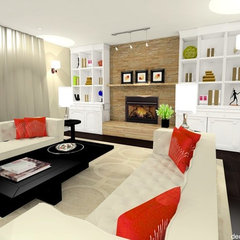 eclectic family room by decorate IT online