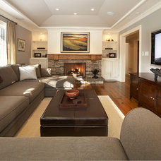 Eclectic Family Room by Parkyn Design
