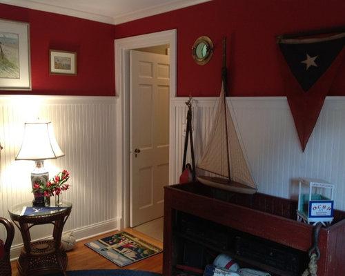 Soggiorno al mare con pareti rosse foto e idee per arredare - Pareti rosse soggiorno ...