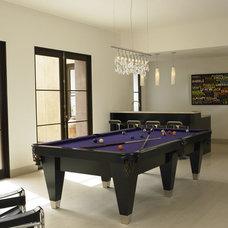 Mediterranean Family Room by Amy Noel Design