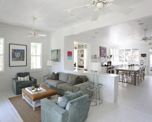 Beadboard Living Design Ideas, Remodels & Photos