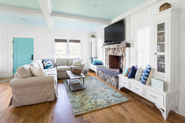 Beach Style Family Room by GMT Home Designs Inc.