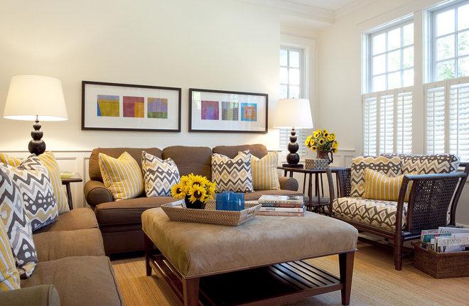 Contemporary Family Room by Su Casa Designs
