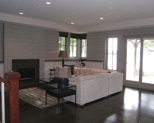 stunning diseo de sala de juegos en casa abierta grande con paredes grises