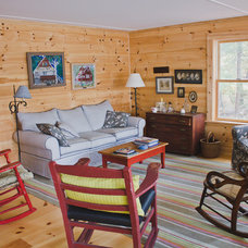Rustic Family Room by Joe Lucey Carpentry Inc.