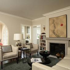 Traditional Family Room by David Heide Design Studio