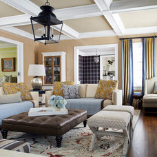 Traditional Family Room by Jules Duffy Designs