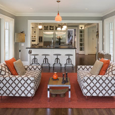 Eclectic Family Room by Emerick Architects