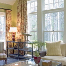 Traditional Family Room by McCoppin Studios