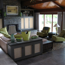 Contemporary Family Room by Michael Beirne