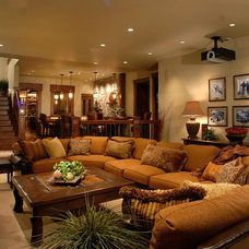 Traditional Family Room by CD Construction, Inc.