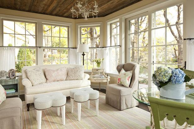 Shabby-chic Style Family Room by Martha O'Hara Interiors