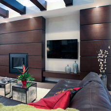 Contemporary Family Room by Mulberry's Design House