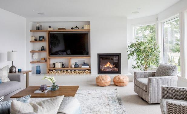 Contemporary Family Room by Grapevine Designs