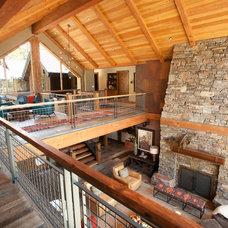 Contemporary Family Room by Scott Gilbride/Architect Inc.