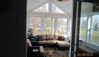 Sunroom addition, deck & bathroom