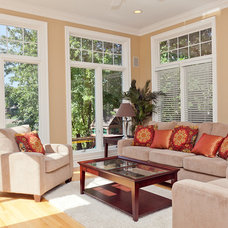 Traditional Family Room Sunroom