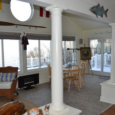 Eclectic Family Room Sunroom