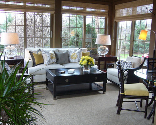 sunroom furniture arrangement houzz