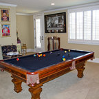 Game Room With Pool Table Traditional Family Room