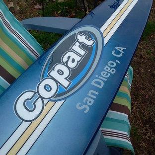 Surfboard wall decoration, company logo wall art