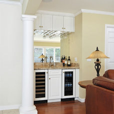 Traditional Family Room by Susan M. Davis