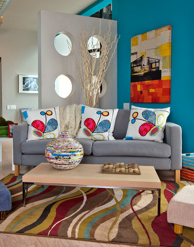 Contemporary Family Room by Gallery Direct
