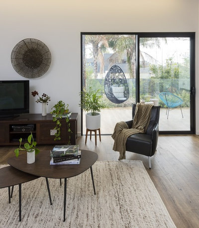 Contemporary Family Room by White Pebble Interiors