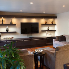Contemporary Family Room by Suzie Shore Interior & Furniture Design